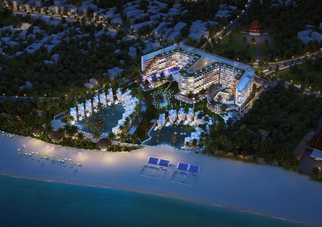 phoi canh khu nghỉ dưỡng Charm Long Hải Resort